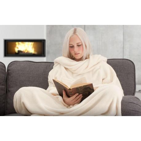 Televizní deka - krémová