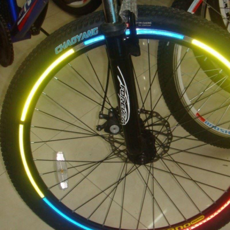 Reflexní pásky na kolo - zelená