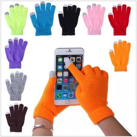 Rukavice pro smartphony - šedé