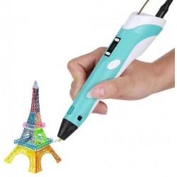 3D pero s LCD displejem - modré