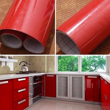 Fólie na obnovu kuchyňské linky - červená