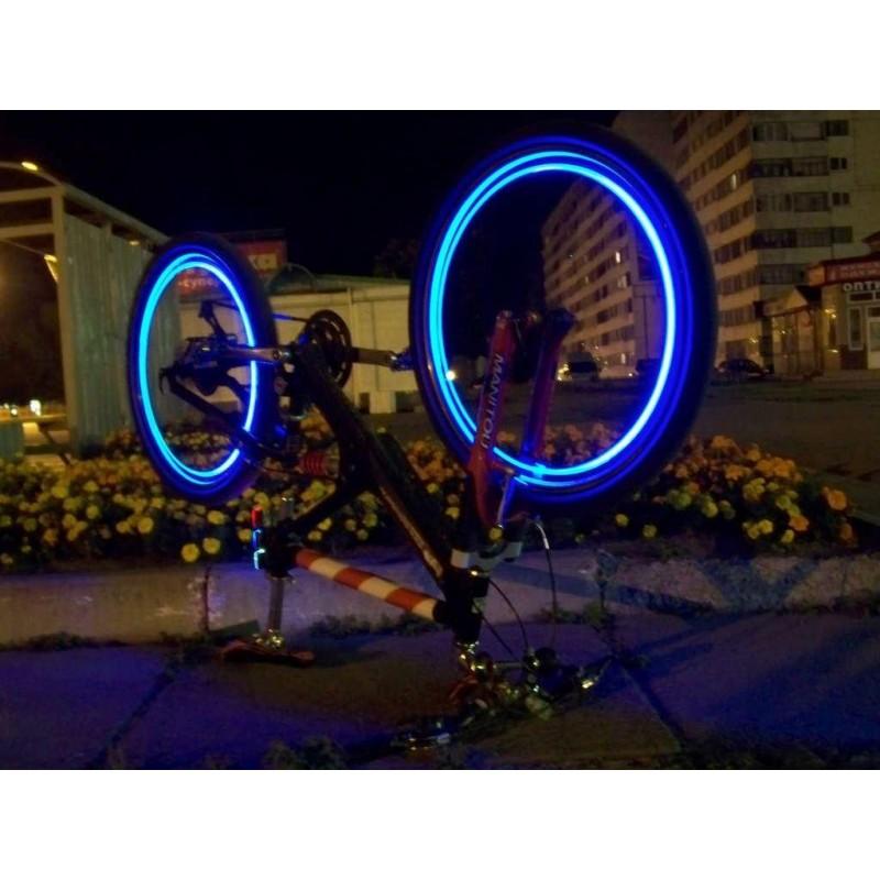 Svítící ventilky 2ks - modré