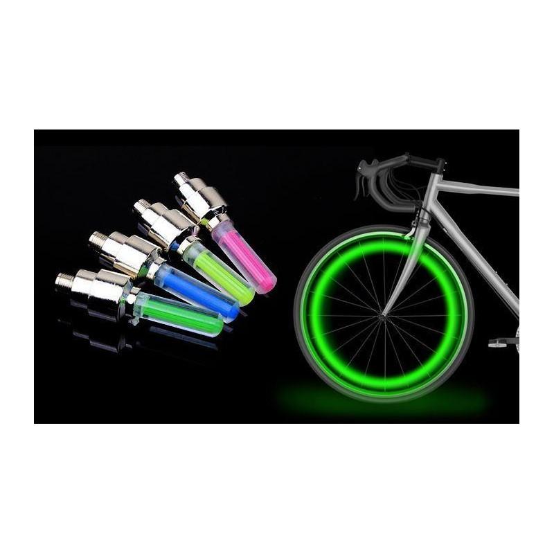 Svítící ventilky 2ks - zelené