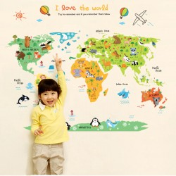 Dětská mapa světa