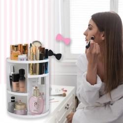 Otočný kosmetický organizér - bílý