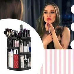 Otočný kosmetický organizér - černý