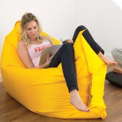Nafukovací vak Lazy bag - žlutý