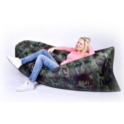 Nafukovací vak Lazy bag jednovrstvý - maskáč klasik