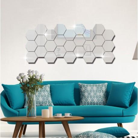 Nálepky na zeď/zrcadlo - víceúhelník