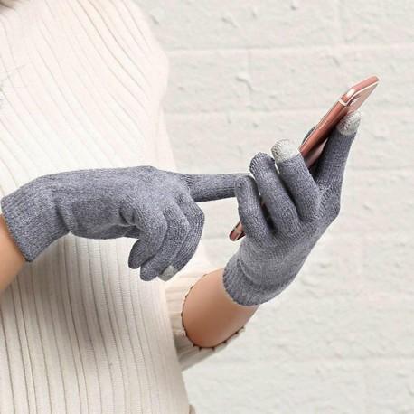 Rukavice pro smartphony (40 g) šedé