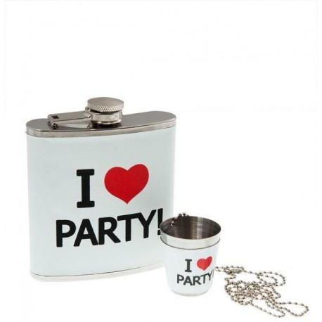 Dárková placatka - I Love Party