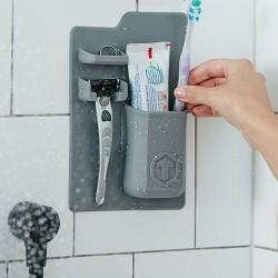 Držák hygienických potřeb - šedá