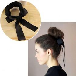 Klip do vlasů s mašlí - černý