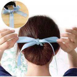 Klip do vlasů s mašlí - světle modrý