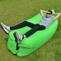 Nafukovací vak Lazy bag dvouvrstvý- zelený