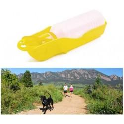 Cestovní láhev pro psy - žlutá