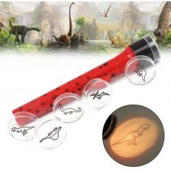 Dětská promítací baterka - Dinosauřík
