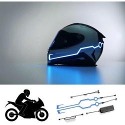 Svítící pásky na helmu