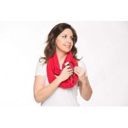 Šátek s kapsou - červený