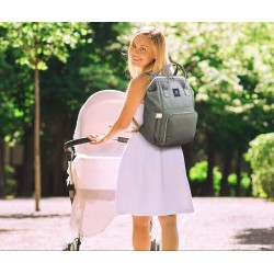 Batoh pro maminky - modrošedý