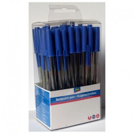 Kuličkové pero barva náplně modrá 1mm - ARO 50 ks
