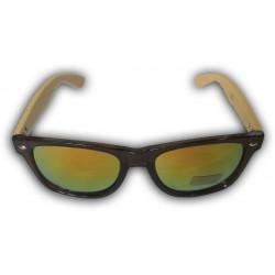 Dřevěné sluneční brýle - duhové