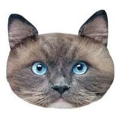 Polštář v designu kočky - tmavý