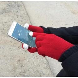 Rukavice pro smartphony - bordó