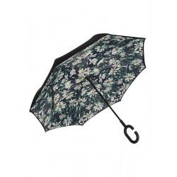Obrácený deštník - bílé květy