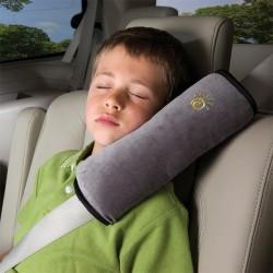 Cestovní polštář do auta na pás - šedivý