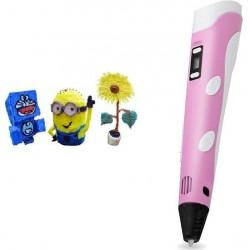 3D pero s LCD displejem - růžové