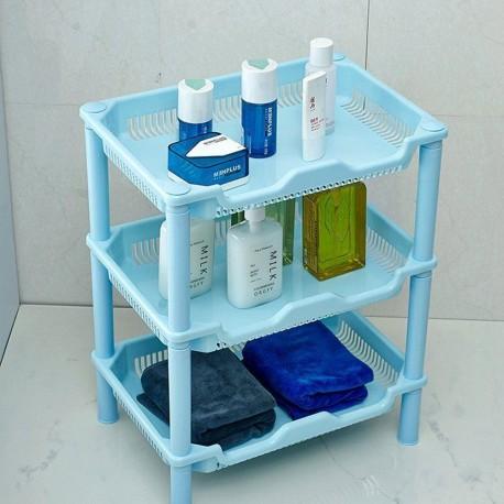 Plastový organizér - 3 přihrádky - modrý