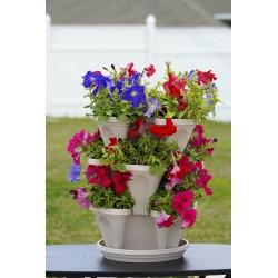 Vertikální květináče - bílé