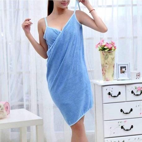 Ručníkové šaty - modré