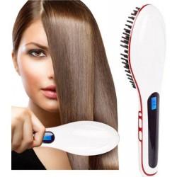 Kartáč na žehlení vlasů - bílý