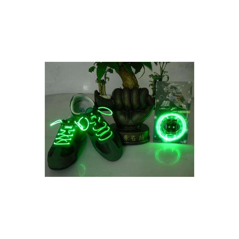 LED svítící tkaničky - zelené
