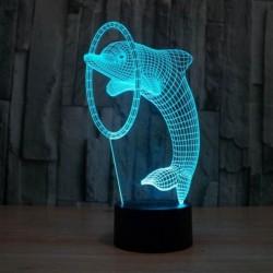 Lampa s 3D iluzí - delfín