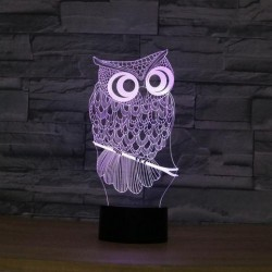 Lampa s 3D iluzí - sova