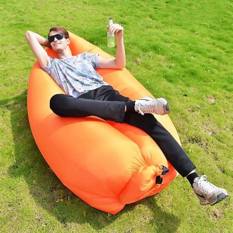 Nafukovací vak Lazy bag - oranžový