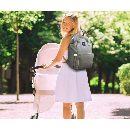 Batoh pro maminky - šedý